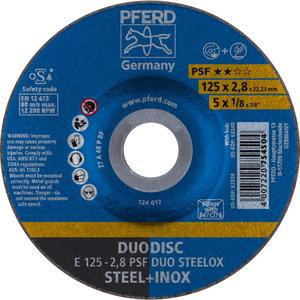 Pjovimo ir šlifavimo diskas 125x2,8mm PSF DUO STEELOX, Pferd