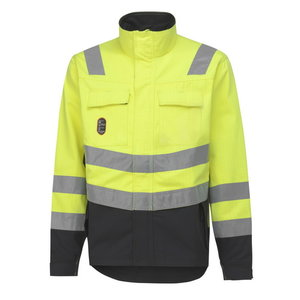 Jacekt Aberdeen, HI-VIS yellow/charcoal, Helly Hansen WorkWear
