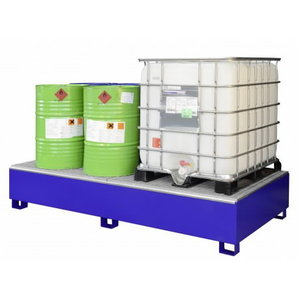 Sump pallet with grating SW8, 8x200L, Cemo