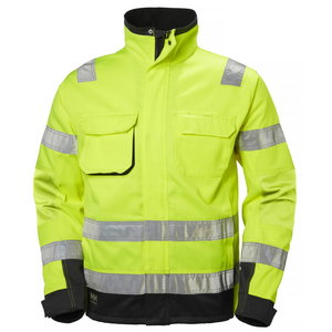 Kõrgnähtav jakk Alna CL3 kollane/must L