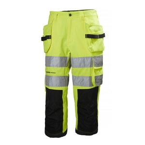 Tööpüksid 3/4 Alna, kõrgnähtav CL2, kollane/tumehall, Helly Hansen WorkWear