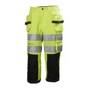 Tööpüksid 3/4 Alna, kõrgnähtav CL2, kollane/tumehall C52, HELLYHANSE