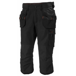 Pants 3/4 Oxford, hanging pockets, black, Helly Hansen WorkWear