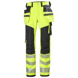 Pants with holsterpockets Icu stretch CL2, yellow/black C48, Helly Hansen WorkWear