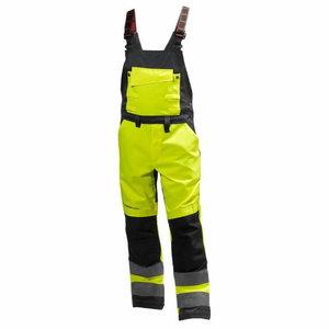 Kõrgnähtavad tööpüksid  Alna CL2 traksidega, kollane/must, Helly Hansen WorkWear