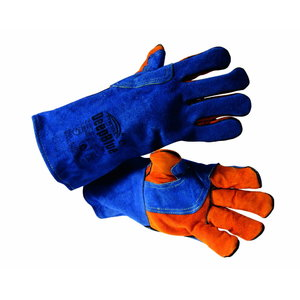 Welding gloves split cowhide Kevlar Deep blue, MOST
