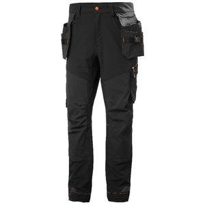Construction pant hanging pockets Kensington stretch, black, Helly Hansen WorkWear