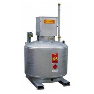 Mobil fuel tank KS-Mobile 400L, lockable pump cabinet, Cemo