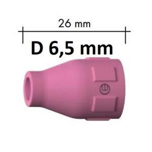 Ceramic gas nozzle, Abitig 150/260W d=6,5mm, l=26mm, Binzel
