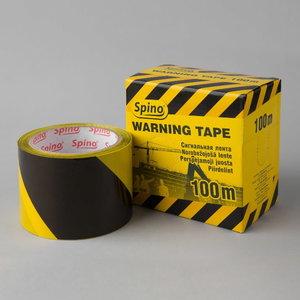 Juosta 70mmx100m juoda/geltona, Spino