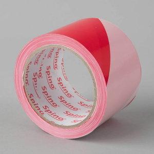 Ierobežojošā lente 70mm x 200, sarkan-balta PE, Spino