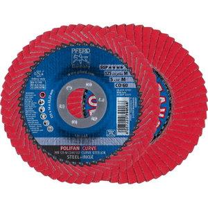 Vėduoklinis diskas 125-M CO60 SGP CURVE STEELOX Radius>5mm P, Pferd