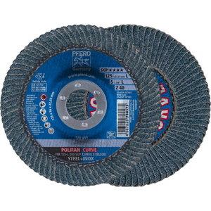 Flap Disc PFR 125 Z40 SGP-CURVE L, >8mm, Pferd