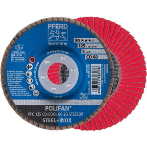 Lameļu slīpdisks125mm P60 CO-COOL PFC Cemamic, Pferd