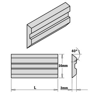 """2-PIECE HPS PLANER AND JOINTER KNIFE SET FOR """"CENTROLOCK"""" SY, CMT"""