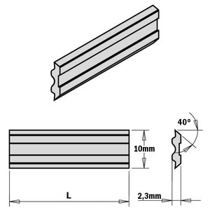 2-PIECE HPS PLANER AND JOINTER KNIFE SET FOR ´´TERSA´´ SYSTE, CMT