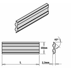 Planer and jointer knives for Tersa systems, CMT