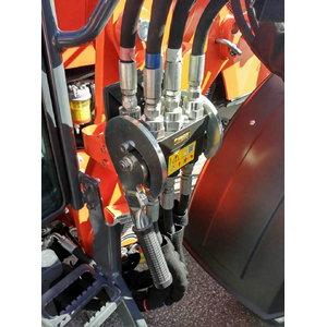 Hydraulic Quick Coupler (6-point) for loader LA1154, Kubota