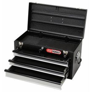 Įrankių dėžė su 3 stalčiais juoda KSTOOLS, KS Tools