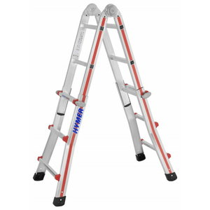 Telescopic ladder 4x3 steps, 1.85–2.92m 8042, Hymer