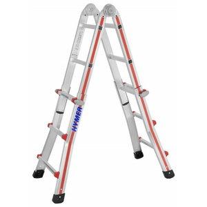 Telescopic ladder 4x3 steps, 1.85–2.92m 8042, Hymer