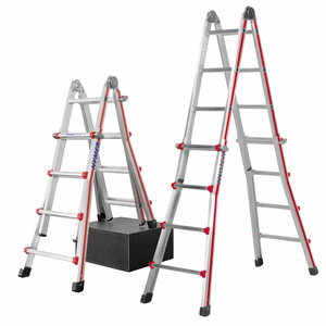 Telescopic ladder 4x5 steps, 2.90 – 5.14m 8042, Hymer