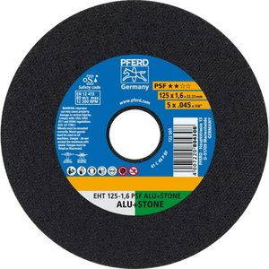 Cut-off wheel 125x1,6mm PSF ALU+STONE, Pferd