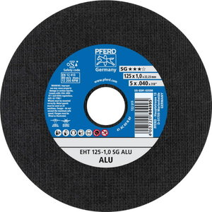 Pjovimo diskas 125x1mm A60 N SG-ALU, Pferd