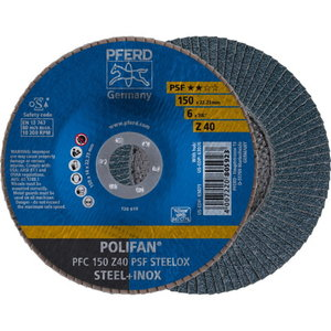 Slīpdisks 150mm Z40 PSF PFC POLIFAN, Pferd