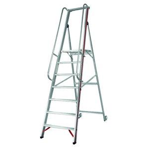 Platform ladder, 6 steps 1,4m 8081, Hymer