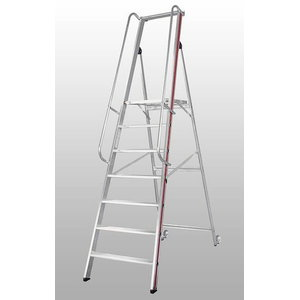 Platform ladder, 10 steps 2,35m 8081, Hymer