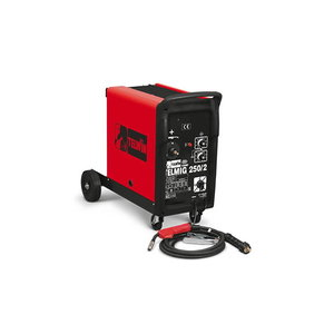 полуавтоматический сварочный аппарат  200A=20  EURO-соед. без горелки, TELMIG 250/2 TURBO, 3 faasi, TELWIN