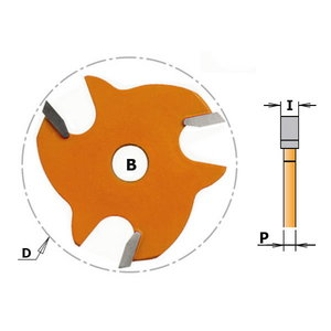 Frēzes asmens Z3 TCT F=8 D=47.6X3, CMT