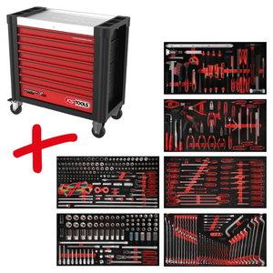 Įrankių vežimėlis Performanceplus  P25 su  416 įrankių, KS Tools