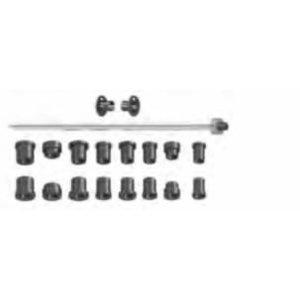 Koonuste komplekt koos võlliga d=19,05 mm Bikeboss