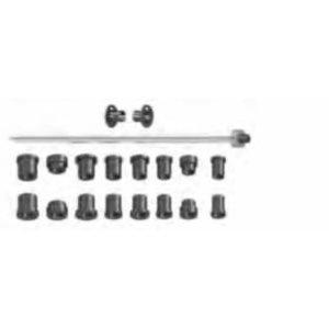 Koonuste komplekt koos võlliga d=19,05 mm Bikeboss, Haweka