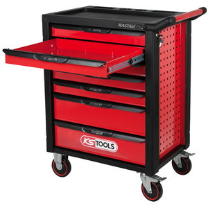 RACINGline BLACK/RED tool cabinet, 7 drawers,598 tool set, KS Tools