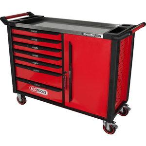 RACINGline+ BLACK/RED tool cabinet with 7 drawers and 1 door, Kstools
