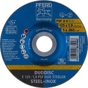 Шлифовально/отрезной диск DUO E 125-1,9 A46 P PSF-INOX, PFERD