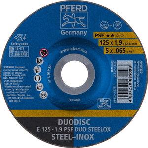 Griešanas un slīpēšanas disks 125x1,9mm PSF DUO STEELOX, Pferd