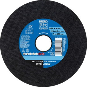 Cut-off wheel SGP STEELOX 125x0,8mm, Pferd
