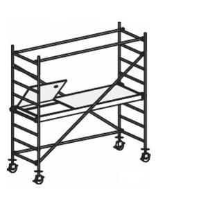 Mobile aluminum scaffolding 8371/, Hymer