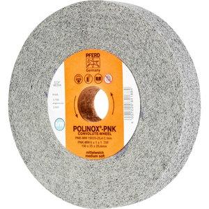 Convolute wheel 150x25/25,4 mm SIC F PNK-MW POLINOX, Pferd