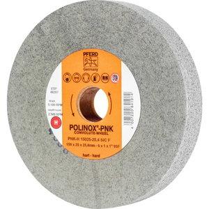 Slīpakmens disks POLINOX PNK-H 15025-25,4 SIC F, Pferd