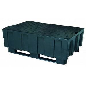 Sump pallet with PE grating 250/2, 2 runners, Cemo