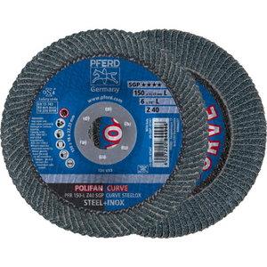 Vėduoklinis diskas 150-L Z40 SGP CURVE STEELOX Radius>8mm PF, Pferd