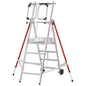Platform ladder 4 steps, 2,10m, ProTect 8483