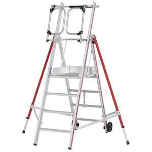 Platform ladder 4 steps, 2,10m, ProTect 8483