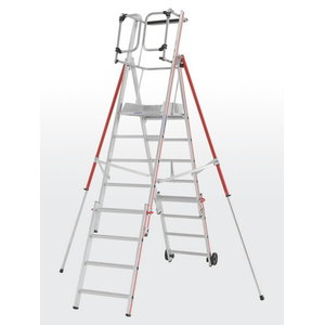 Platform ladder 8 steps, 2,36-3,06m ProTect 8484, Hymer