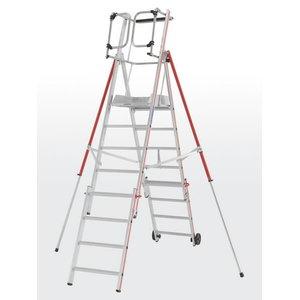 Platform ladder 10 steps, 2,61-3,56m ProTect 8484, Hymer